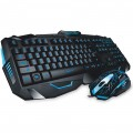 TECLADO E MOUSE MULTIMÍDIA 2000DPI USB GAMER 3 CORES DE LED LIGHTNING TC195 PRETO - MULTILASER