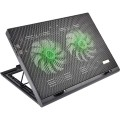 BASE PARA NOTEBOOK COM COOLER E LEDS VERDE AC267 PRETO - MULTILASER