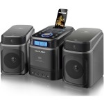 DOCK STATION PARA IPHONE E IPAD C/ CD PLAYER/FM/USB/SD/AUX 40W RMS SP158 PRETO - MULTILASER