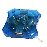 HUB MINI 4 PORTAS USB H009J-B AZUL 34700 - INTEGRIS