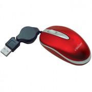 MOUSE MINI ÓPTICO USB RETRÁTIL VERMELHO 0101 - BRIGHT