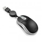 MOUSE MINI ÓPTICO USB RETRÁTIL PRETO 60656-3 - MAXPRINT