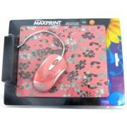 MOUSE ÓPTICO USB ROSA/CINZA 60727-8 - MAXPRINT