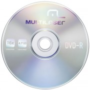 DVD-R 4.7GB 16X (UNIDADE) DV037- MULTILASER