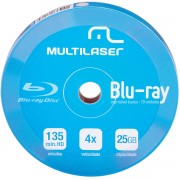 DVD-R 4X SHIRINK BLU-RAY PRINT BRANCO DV057 C/ 10 UNIDADES - MULTILASER