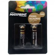 PILHA ALCALINA AAA COM 2 PILHAS 75635-8 - MAXPRINT