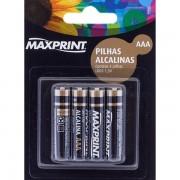 PILHA ALCALINA AAA COM 4 PILHAS 75636-2 - MAXPRINT