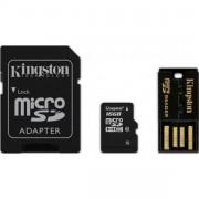 CARTÃO DE MEMÓRIA PARA CÂMERA SD 16GB MICRO COM 1 ADAPT. E PENDRIVE MBLY10G2/16GB - KINGSTON