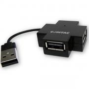HUB MINI 4 PORTAS USB 2.0 ESTRELA PRETO 9262 - COMTAC
