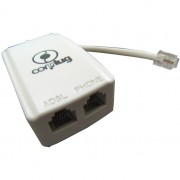 FILTRO MICRO PARA LINHA TELEFÔNICA COM ADSL DUPLO ADP0102 - MICROBON