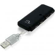 HUB USB SLIM 4 PORTAS PRETO AC064 - MULTILASER