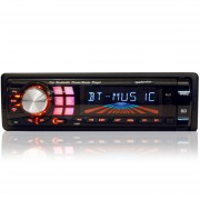 SOM AUTOMOTIVO RÁDIO FM USB MP3 PLAYER COM BLUETOOTH PRETO 5986 - LEADERSHIP