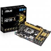 PLACA MÃE 1150 H81M-A/BR DDR3 USB3.0 HDMI (S/V/R) - ASUS