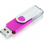 PEN DRIVE 8GB TWIST 2 ROSA PD687 - MULTILASER