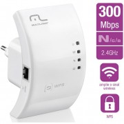 REPETIDOR ACCESS POINT WIFI 300MBPS WPS RE051 BRANCO - MULTILASER