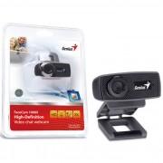 WEBCAM FACECAM 1000X HD 720P USB 2.0 ZOOM 3X 32200223101 PRETO - GENIUS