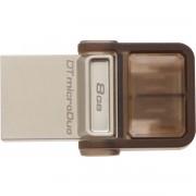 PEN DRIVE 8GB DATATRAVELER MICRODUO USB/MICRO USB PRETO DTDUO/8GB - KINGSTON