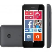 SMARTPHONE LUMIA 530 QUAD CORE WINDOWS PHONE 8.1 4GB CÂMERA 5MP 3G DUAL CHIP DESBLOQ PRETO - NOKIA