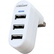 HUB USB 3 PORTAS 0335 - BRIGHT