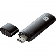 ADAPTADOR DE REDE SEM FIO USB OU 300MBPS AC DUALBAND DWA-182 PRETO - D-LINK
