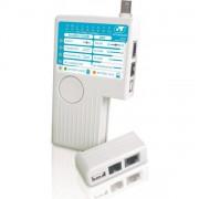 TESTADOR DE CABO RJ-11 E RJ-45, BNC E USB BRANCO 22.010 - GTS NETWORK