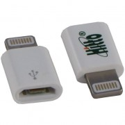 ADAPTADOR DE IPHONE 5 PARA MICRO USB BRANCO 210155 - HITTO