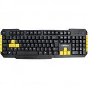 TECLADO USB GAMER PRETO/AMARELO 0183 - BRIGHT