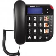TELEFONE COM FIO TOK FÁCIL ID PRETO - INTELBRAS