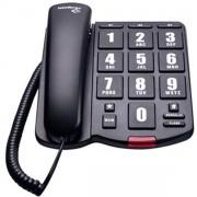 TELEFONE COM FIO TOK FÁCIL GRAFITE - INTELBRAS