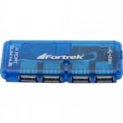HUB MINI 4 PORTAS USB 2.0 AZUL HBU402 51923 - FORTREK