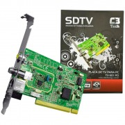 PLACA DE CAPTURA TV+FM TV-SD1 PCI C3T SDTV - C3 TECH