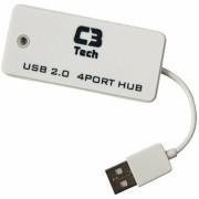 HUB USB 2.0 4 PORTAS HU-201 WH BRANCO - C3 TECH