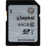 CARTÃO DE MEMÓRIA SD 64GB CLASS 10 SD10VG2/64GB - KINGSTON