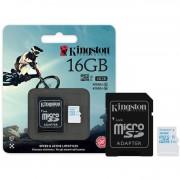 CARTÃO DE MEMÓRIA MICRO SDHC ACTION 16GB COM ADAPTADOR SD UHS-I U3 SDCAC/16GB  - KINGSTON