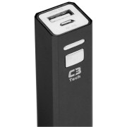 CARREGADOR POWER BANK PORTÁTIL USB 2600MAH PB-S2600 BK PRETO - C3 TECH