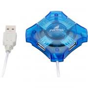 HUB MINI 4 PORTAS USB 2.0  HBU-401 AZUL 51922 - FORTREK