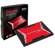 SSD 480GB SATA III 6GB/S HYPERX SAVAGE LEITURAS 520MB/S E GRAVAÇÕES 530MB/S SHSS37A/480G - KINGSTON
