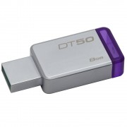 PEN DRIVE DATATRAVELER USB 3.1 8GB DT50/8GB ROXO -  KINGSTON