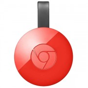 CHROMECAST II HDMI STREAMING MEDIA PLAYER VERMELHO - GOOGLE