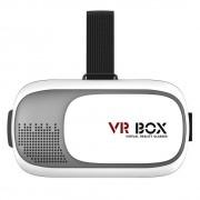 OCULOS DE REALIDADE VIRTUAL 3D COM CONTROLE BLUETOOTH BRANCO - VR BOX
