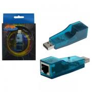 ADAPTADOR DE REDE USB X RJ45 KYQF9700 AZUL AD0004 - GENÉRICO