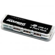 HUB USB 2.0 4 PORTAS PRETA 602458 - MAXPRINT