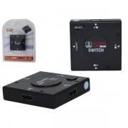 HUB HDMI 3 PORTAS 1080P PRETO HUB0008 - GENERICO