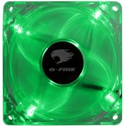 COOLER FAN 8CM COM LED VERDE EW0408N - G-FIRE