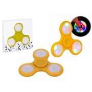 SPINNER FIDGET HAND LED ANTI STRESS AMARELO  HS0001Y - SPINNER