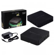 SMART TV 4K ULTRA HD OTT BOX ANDROID TV QUAD CORE AD0274 PRETO - MXQ