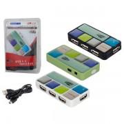 HUB USB 2.0 4 PORTAS 480 MBPS HUB0003 COLORIDO - GENERICO