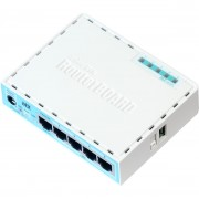 ROTEADOR 5 PORT ETHERNET GIGABIT ROUTER RB750GR3 - MIKROTIK
