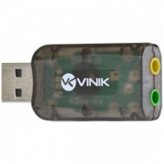 ADAPTADOR DE SOM USB 5.1 VIRTUAL AUSB51 - VINIK