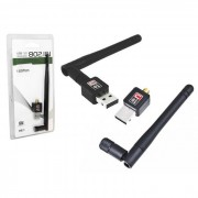 ADAPTADOR WIRELESS 150 MBPS COM ANTENA USB 2.0 802.11N AD0170 - GENERICO
